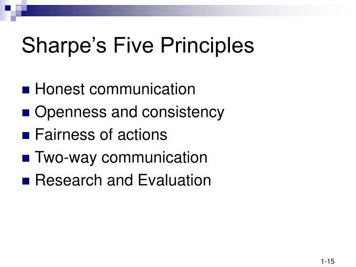 Sharpe's Five Principles
