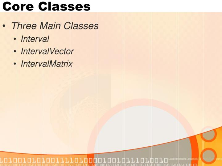 Core Classes