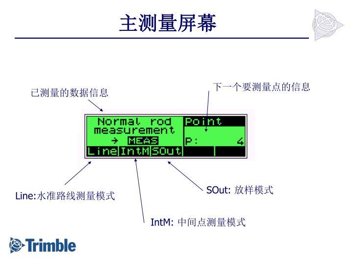 主测量屏幕