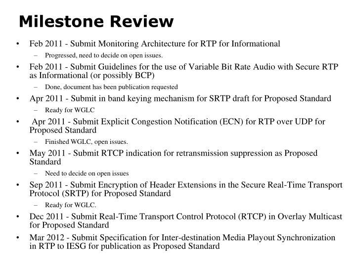 Milestone Review