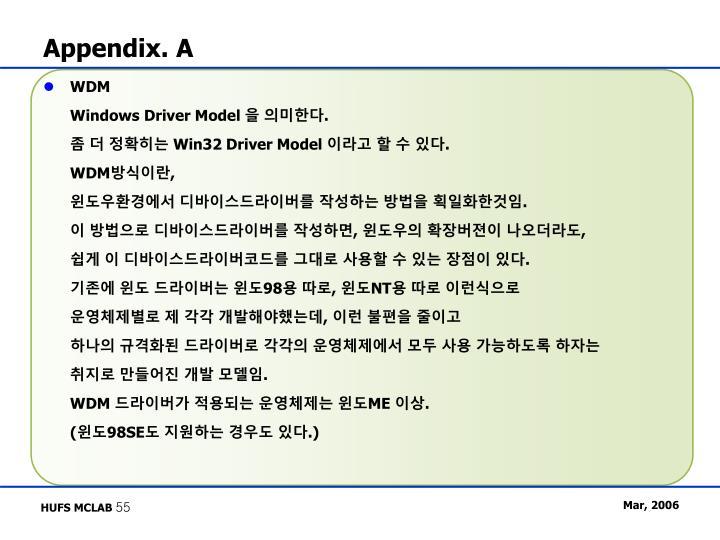 Appendix. A