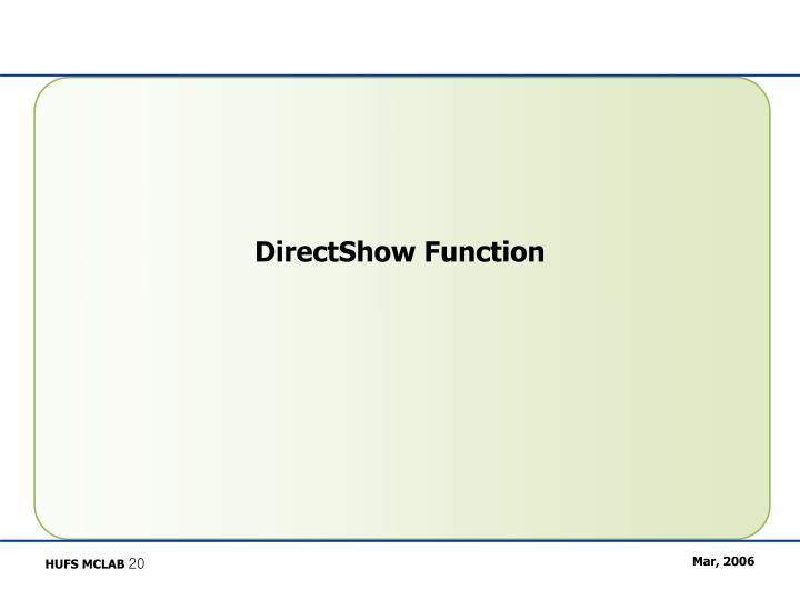 DirectShow Function