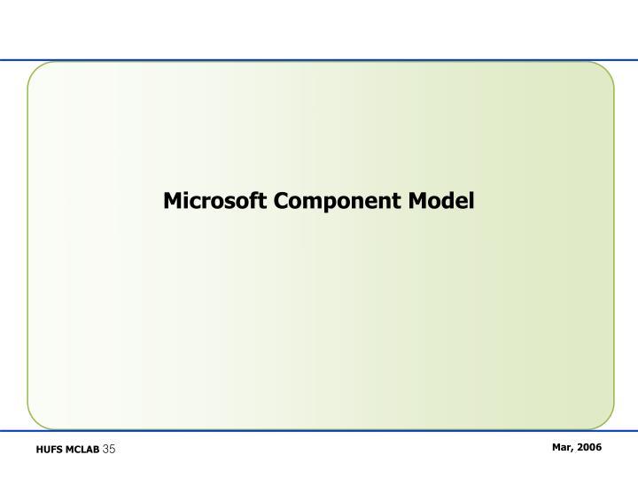 Microsoft Component Model