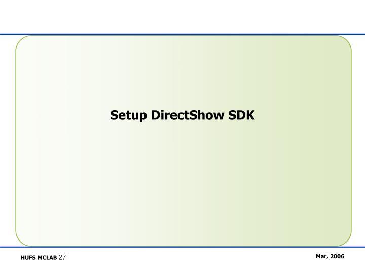 Setup DirectShow SDK