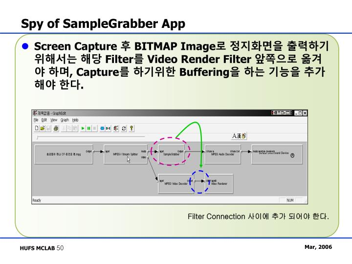 Spy of SampleGrabber App