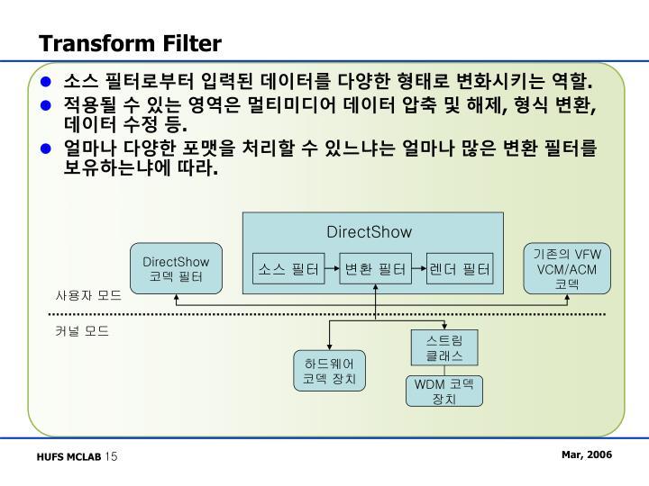 Transform Filter
