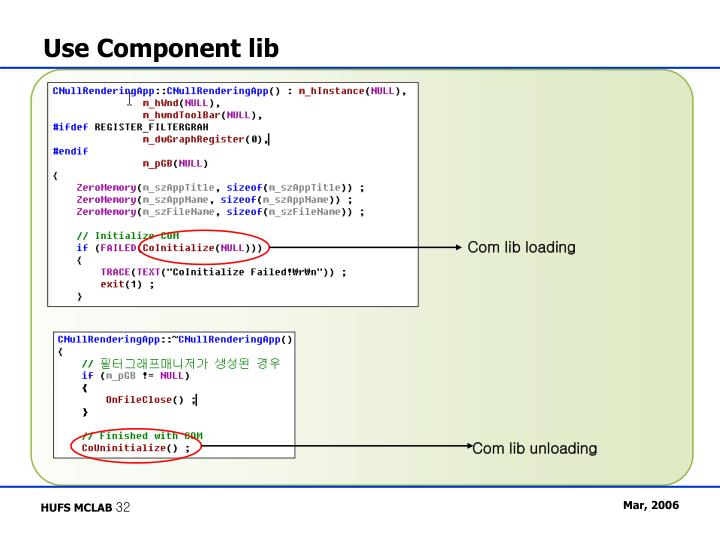 Use Component lib