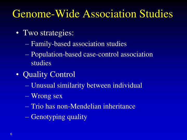 Genome-Wide Association Studies