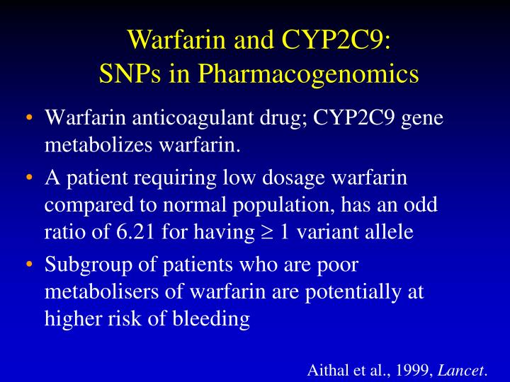 Warfarin and CYP2C9: