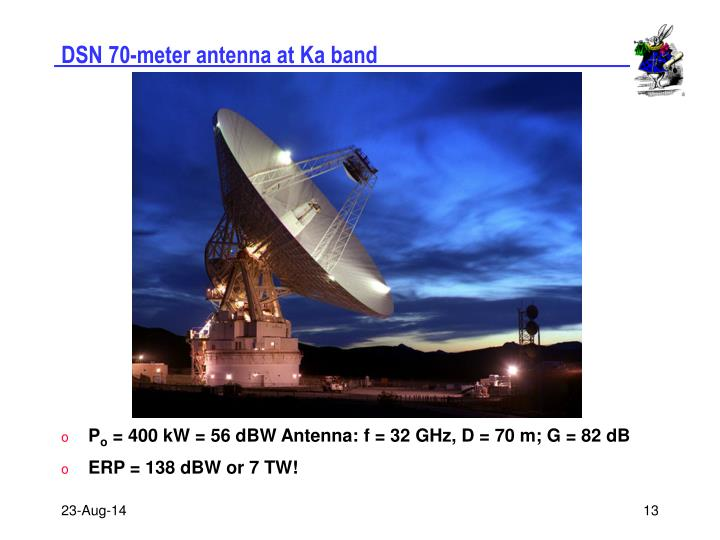DSN 70-meter antenna at Ka band