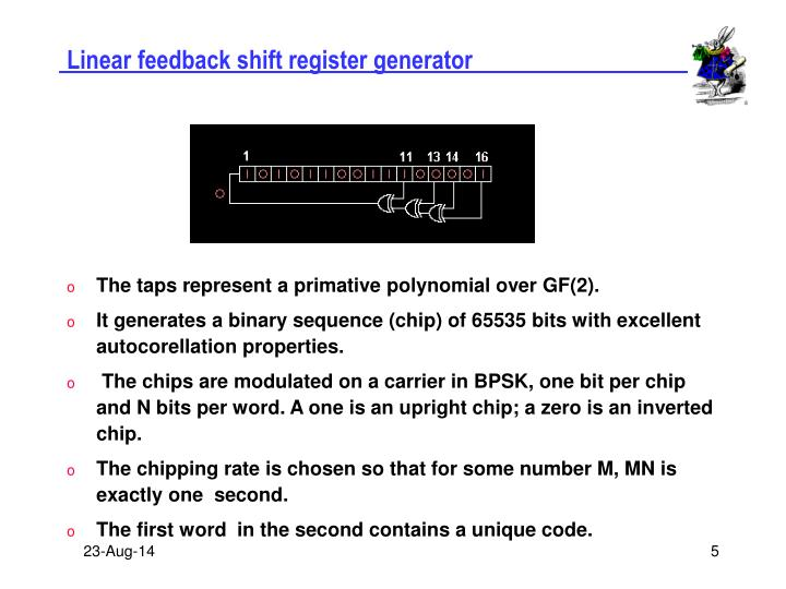 Linear feedback shift register generator