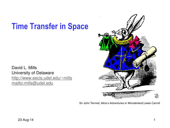 Time Transfer in Space