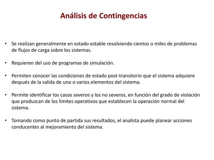 Análisis de Contingencias
