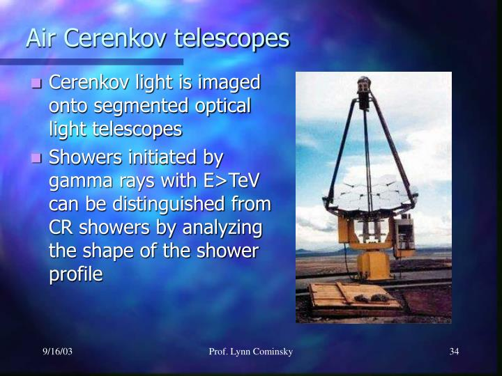 Air Cerenkov telescopes