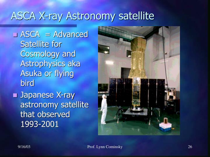 ASCA X-ray Astronomy satellite