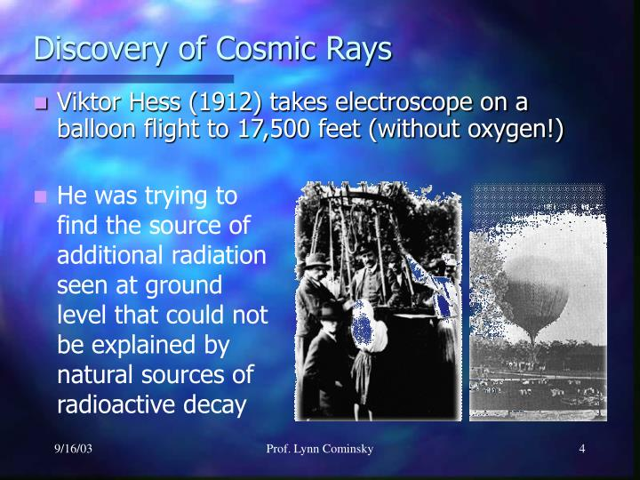 Discovery of Cosmic Rays