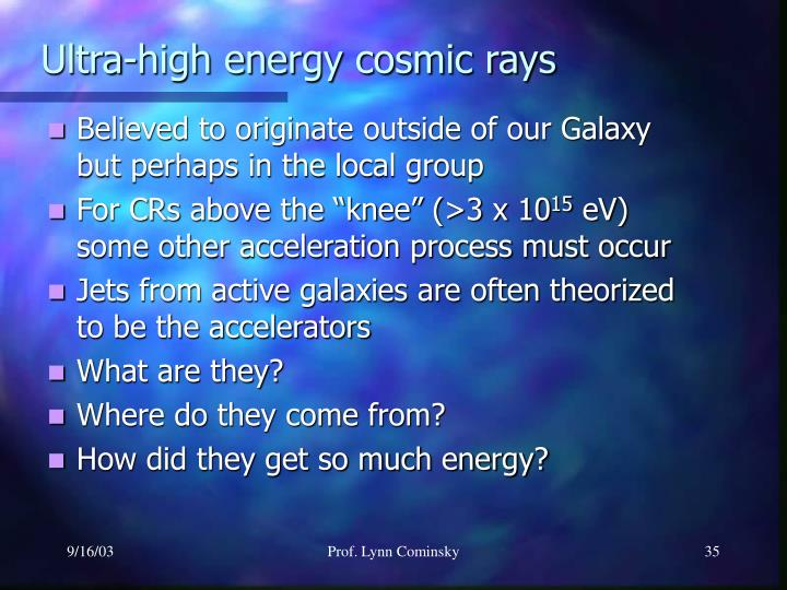 Ultra-high energy cosmic rays