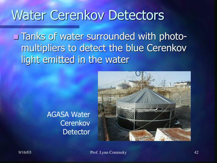 Water Cerenkov Detectors