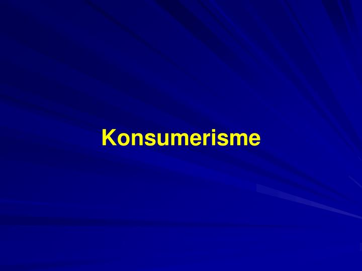 Konsumerisme