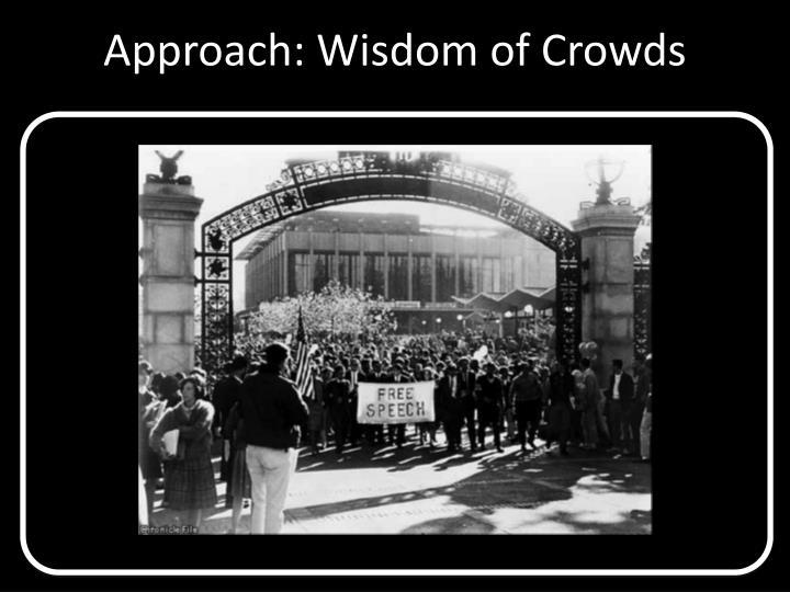 Approach: Wisdom of Crowds