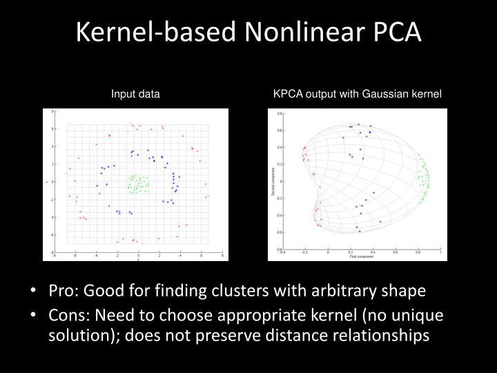 Kernel-based Nonlinear PCA
