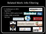 related work info filtering