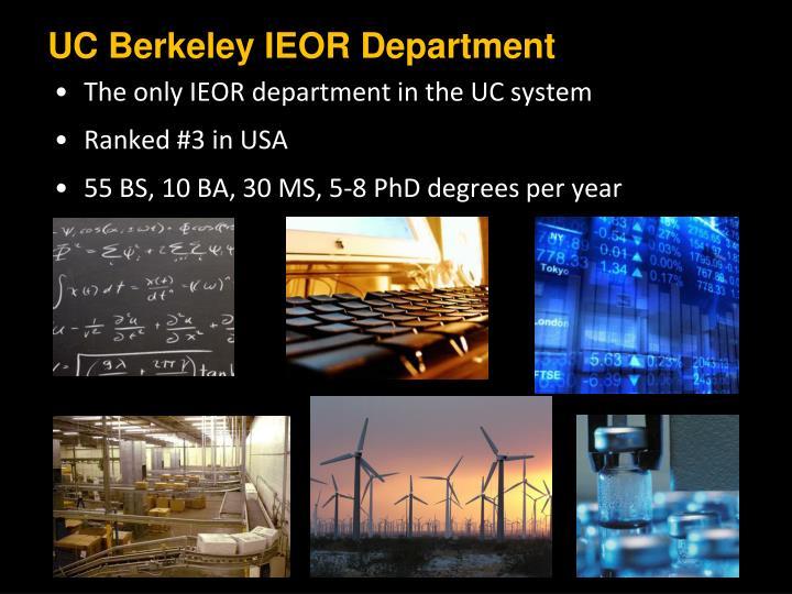 UC Berkeley IEOR Department