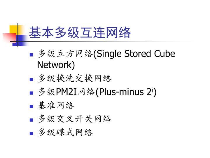 基本多级互连网络