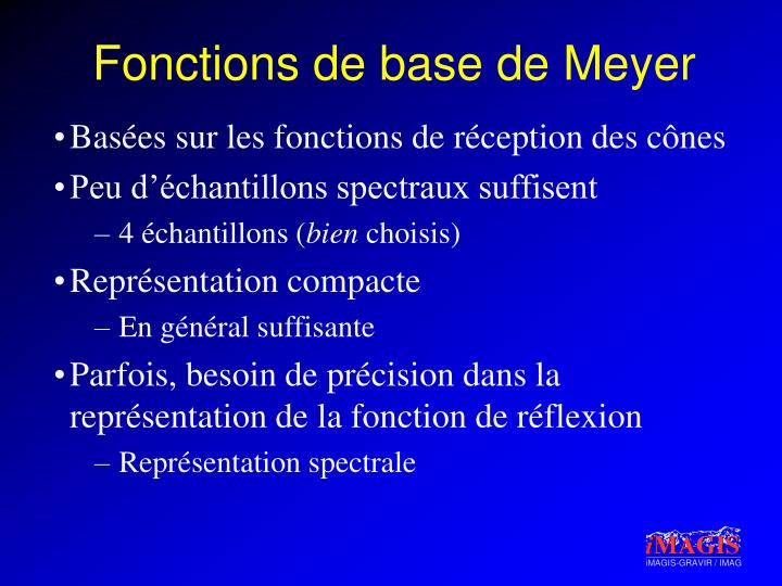 Fonctions de base de Meyer