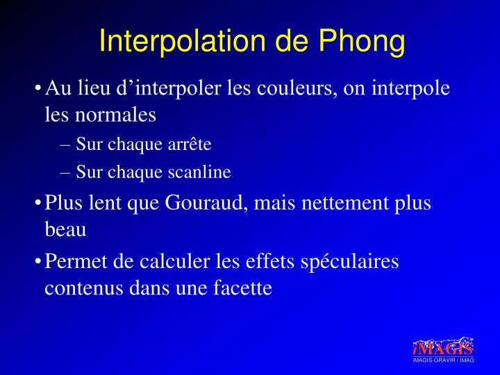 Interpolation de Phong