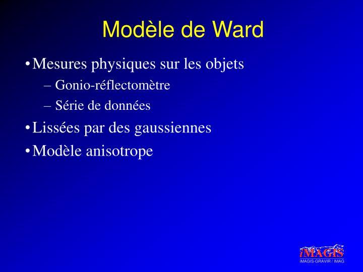 Modèle de Ward