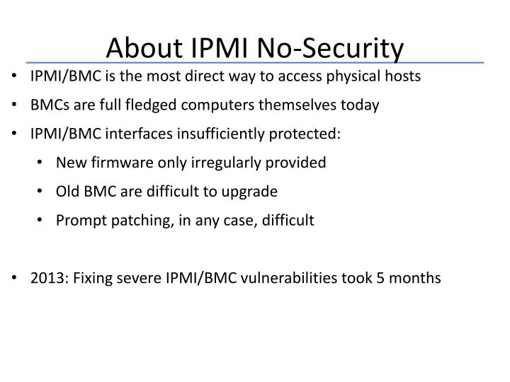About IPMI No-Security