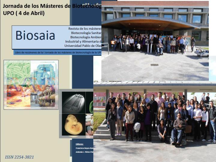 Jornada de los Másteres de Biotecnología de la UPO ( 4 de Abril)