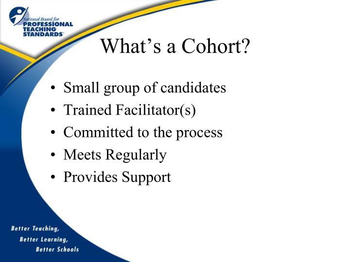 What's a Cohort?