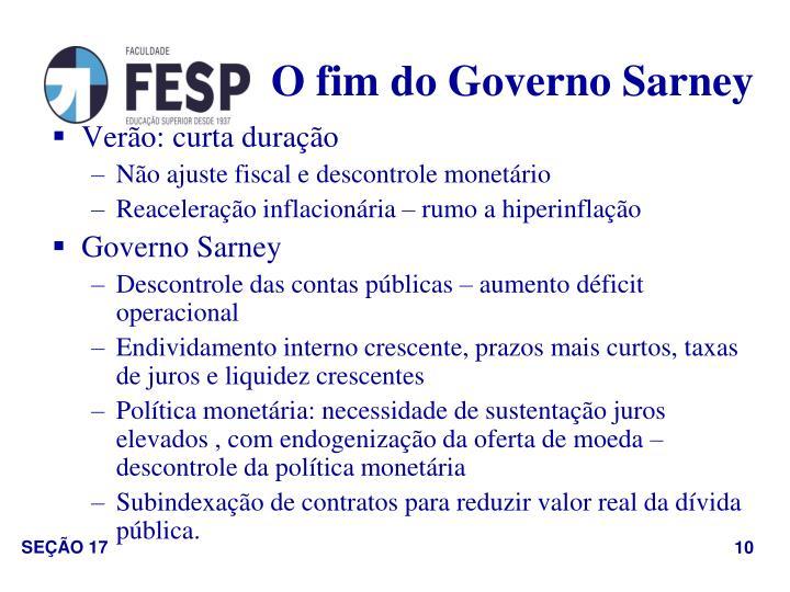 O fim do Governo Sarney