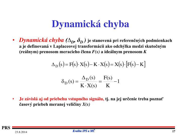 Dynamická chyba