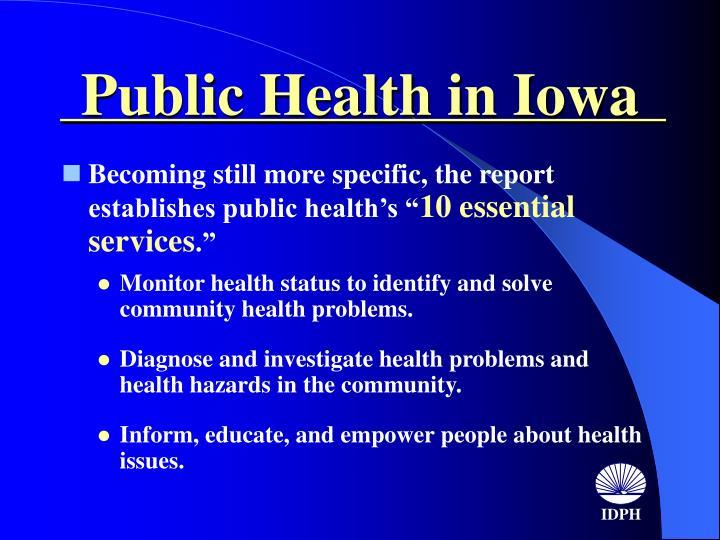 Public Health in Iowa