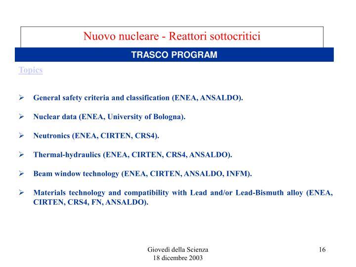 Nuovo nucleare - Reattori sottocritici