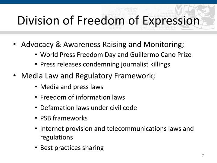 Division of Freedom of Expression