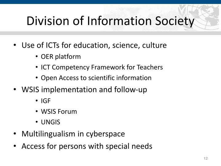 Division of Information Society