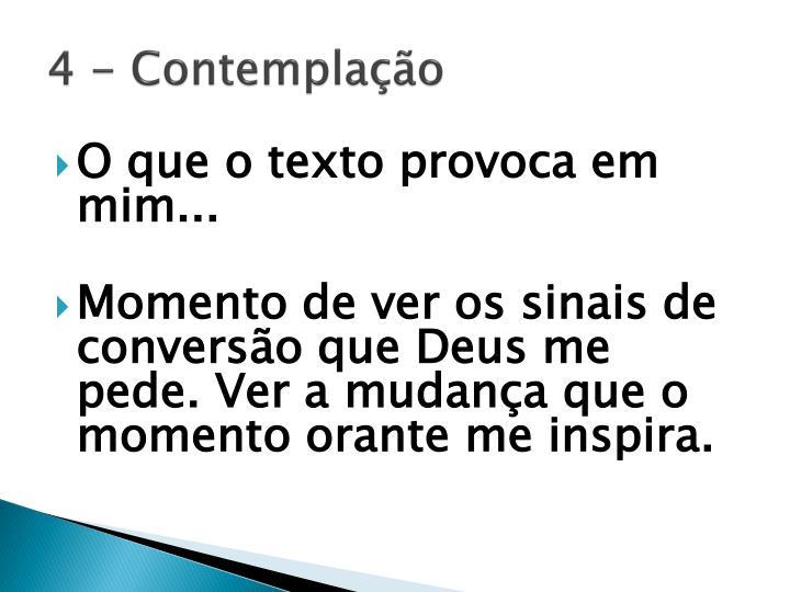 4 - Contemplação