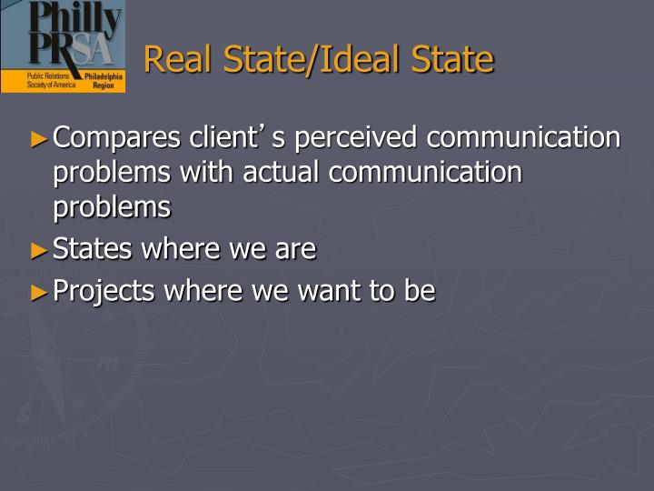 Real State/Ideal State