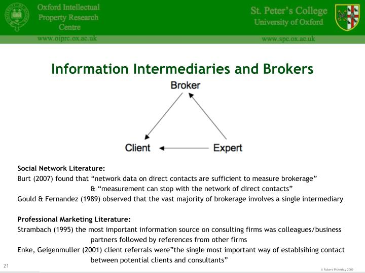 Information Intermediaries and Brokers