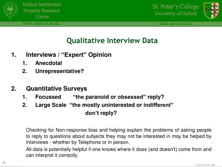 Qualitative Interview Data