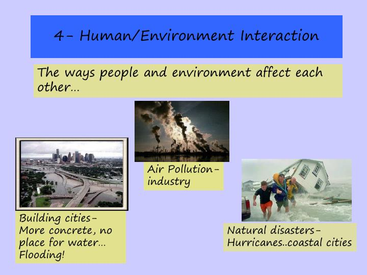 4- Human/Environment Interaction
