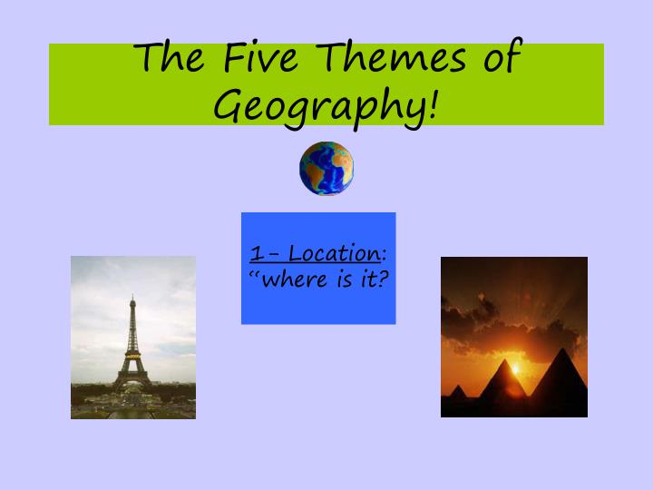 The Five Themes of Geography!