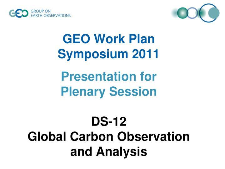 GEO Work Plan