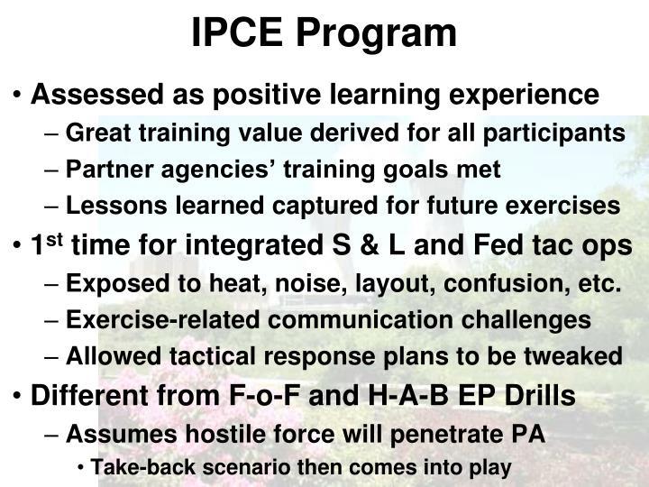 IPCE Program