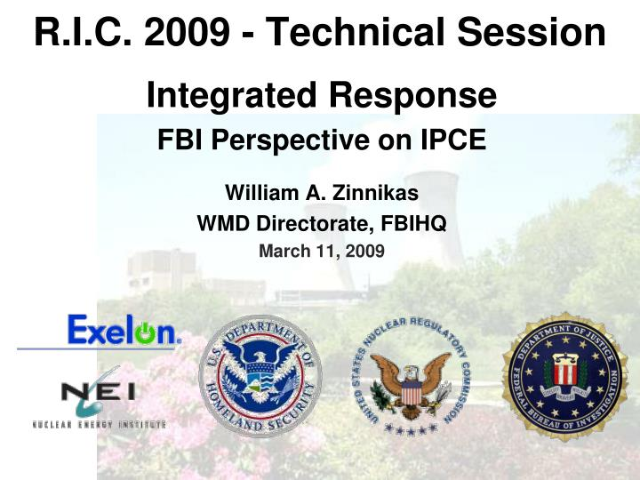 R i c 2009 technical session