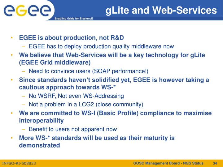 gLite and Web-Services